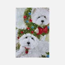 Cute Westie christmas Rectangle Magnet