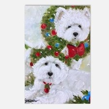 Cute Westie dogs Postcards (Package of 8)
