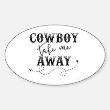 Cute Cowboy Sticker (Oval)