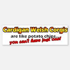 Potato Chips Cardigan Welsh Corgi Bumper Bumper Bumper Sticker