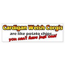 Potato Chips Cardigan Welsh Corgi Bumper Bumper Sticker