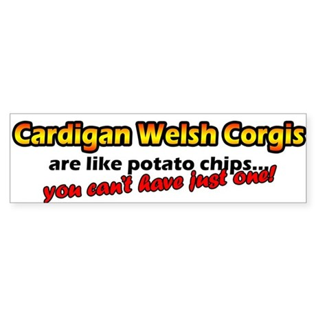 Potato Chips Cardigan Welsh Corgi Bumper Sticker