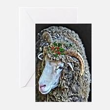 Horned Ewe Alfalfa Christmas Greeting Cards
