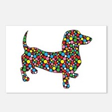 Polka Dot Dachshunds Postcards (Package of 8)