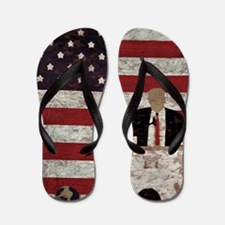 Trump Flag Art by Prezography Flip Flops