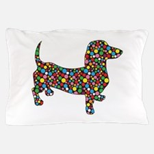 Polka Dot Dachshunds Pillow Case