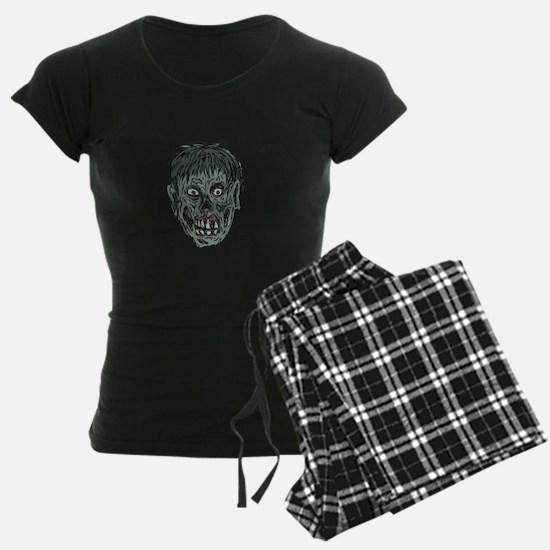 Zombie Skull Head Drawing Pajamas