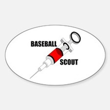 BASEBALL DRUGS Oval Decal