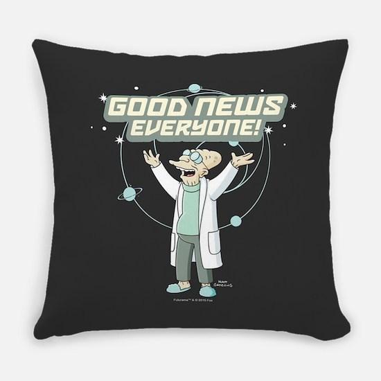Futurama Good News Everyday Pillow