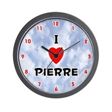 I Love Pierre (Red/Blk) Valentine Wall Clock