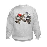 Dog lover and cat lover Crew Neck
