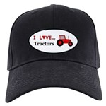 I Love Red Tractors Black Cap