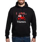 I Love Red Tractors Hoodie (dark)