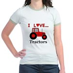 I Love Red Tractors Jr. Ringer T-Shirt