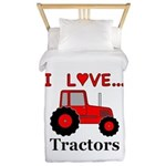 I Love Red Tractors Twin Duvet