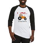 I Love Tractors Baseball Jersey