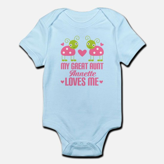 Great Aunt Loves Me Personalized Body Suit