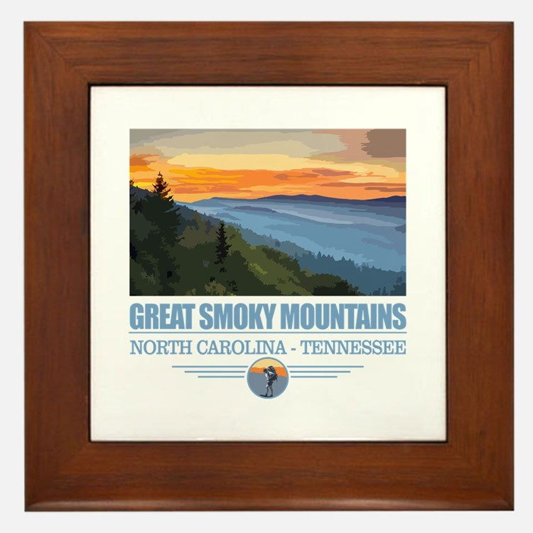 Great Smoky Mountains Framed Tile