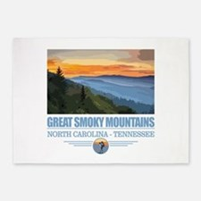Great Smoky Mountains 5'x7'Area Rug