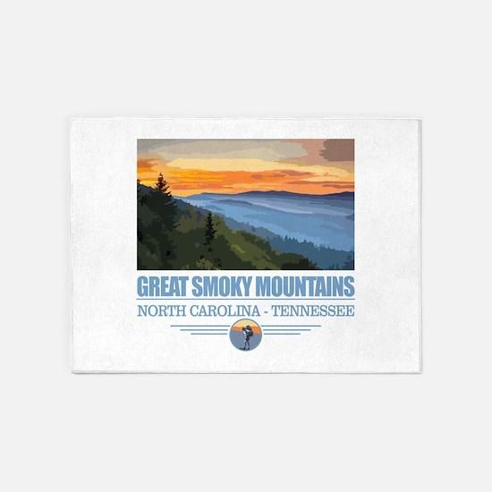 Great Smoky Mountains 5'x7'Area Rug