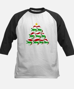 Funny Alligator Christmas Tree Baseball Jersey
