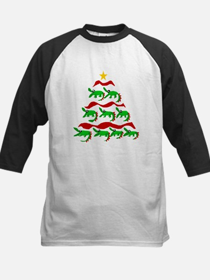 Funny Alligator Christmas Tree Baseball Jersey
