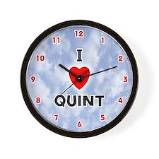 I Love Quint (Red/Blk) Valentine Wall Clock