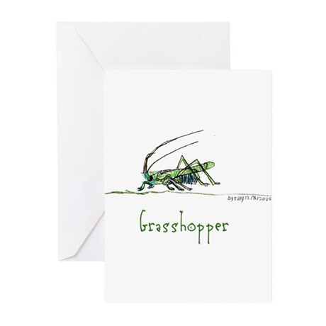 Grasshoppers and Spiders Greeting Cards (Pk of 20)