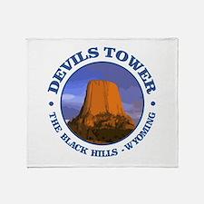 Devils Tower (rd) Throw Blanket