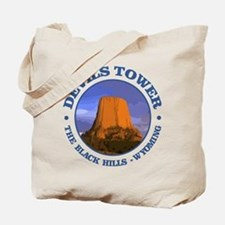 Devils Tower (rd) Tote Bag