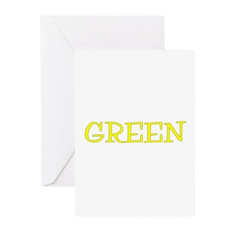Green (Yellow) Greeting Cards (Pk of 10)