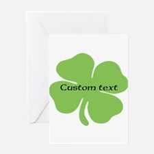 Custom St. Patrick's four leaf clover Greeting Car
