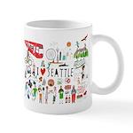 I Love Seattle Mug Mugs