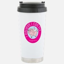 Believe Flying Pig Travel Mug
