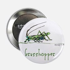 """Grasshoppers and Spiders 2.25"""" Button"""