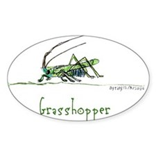 Grasshoppers and Spiders Oval Decal