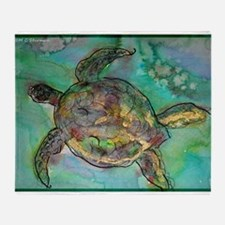 Sea Turtle, Wildlife art! Throw Blanket