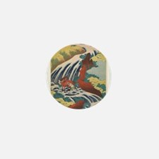 Vintage poster - Yoshitsune Falls Mini Button