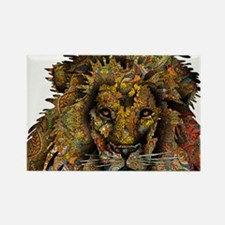 Wild Lion Rectangle Magnet (10 pack)