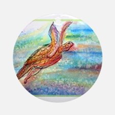Sea Turtle! Wildlife art! Round Ornament