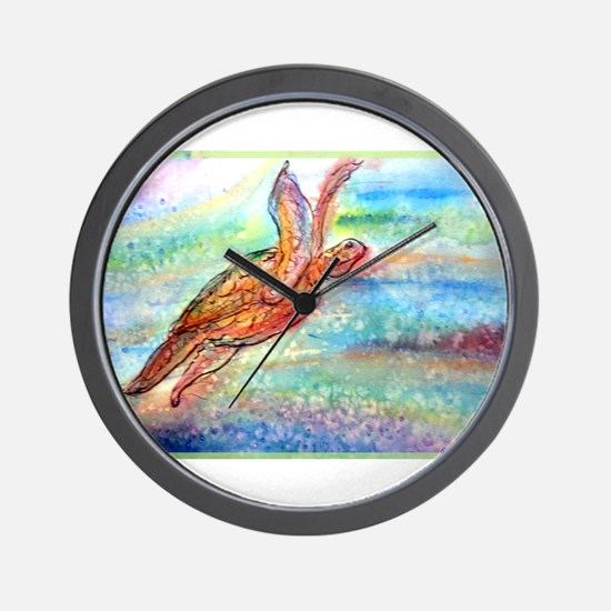 Sea Turtle! Wildlife art! Wall Clock