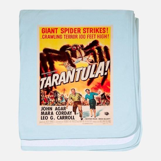 Vintage poster - Tarantula baby blanket