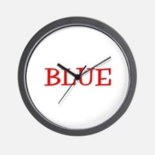 Blue (Red) Wall Clock