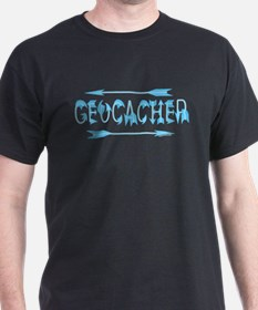 Geocacher Arrow Text T-Shirt