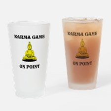 Karma Game On Point Drinking Glass