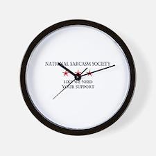 National Sarcasm Society 2 Wall Clock