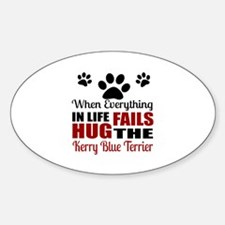 Hug The Kerry Blue Terrier Decal