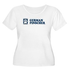 GERMAN PINSCHER Womens Plus-Size Scoop Neck T