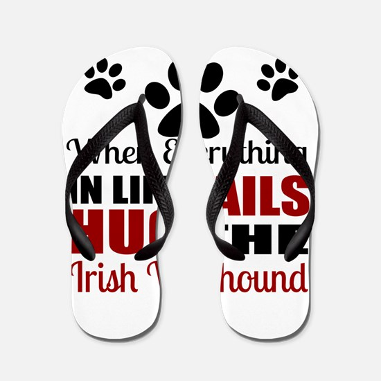 Hug The Irish Wolfhound Flip Flops