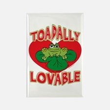 Toadally Lovable Rectangle Magnet